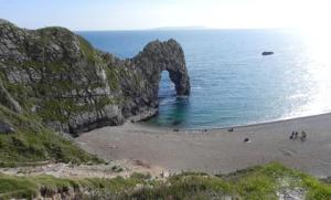 Durdle Door in Dorset on a personalised card