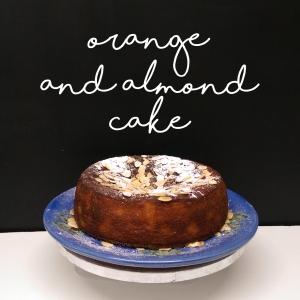 orange almond cake for great british bake off
