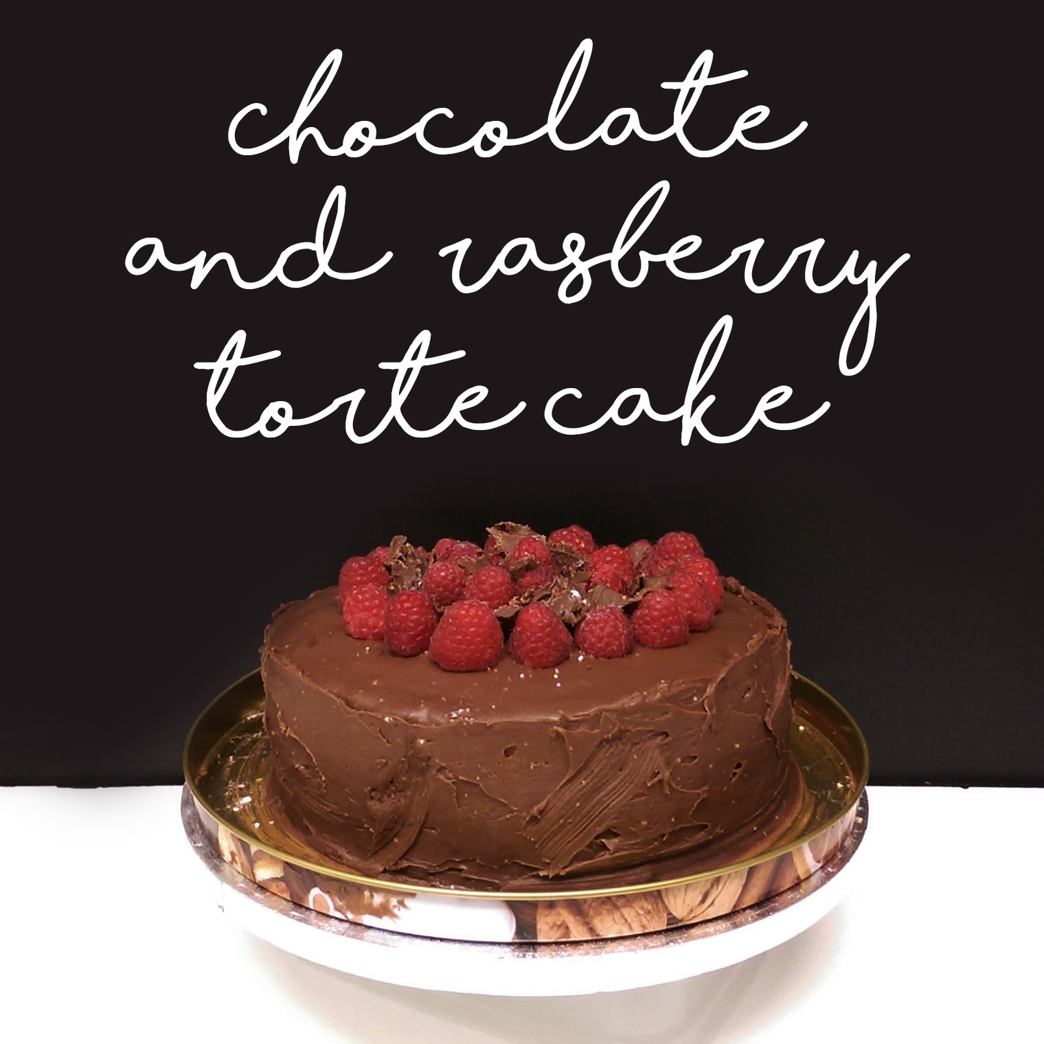Chocolate and raspberry cake for the great british bake off