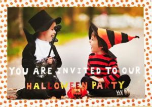 Children's Halloween party personalised invitation card