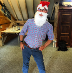 stephen homer at postsnap dresses up as santa