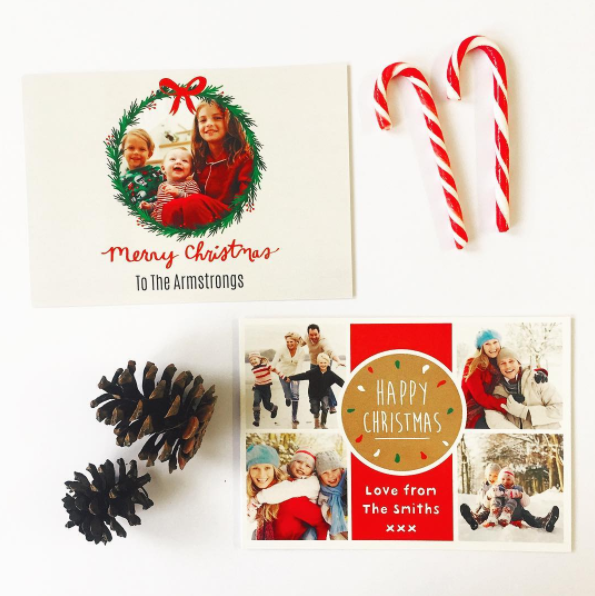 Christmas cards postsnap candy cane collage