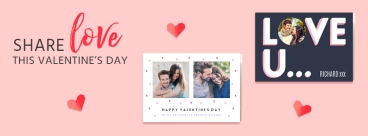 postsnap valentine's day banner - lovely things about valentine's day