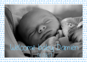 Welcome baby announcement cards
