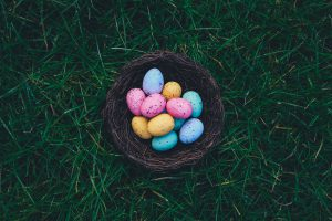 Where to hide Easter eggs for the Easter egg hunt.