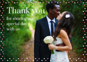 Thank you for coming to our wedding guest cards