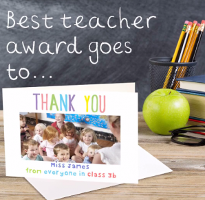 personalised card for Best teacher award