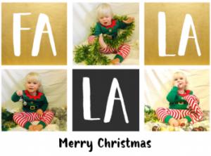 Falala personalised christmas card