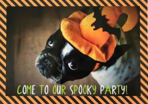 Halloween personalised dog card