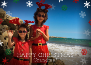 Merry Christmas grandma personalised card