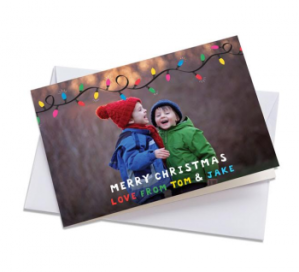 Merry christmas kids personalised card