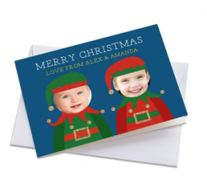 Merry christmas personalised card from the children
