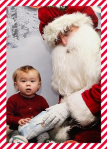 Santa photo for a personalised christmas card