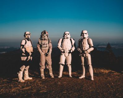 Star Wars storm troopers - may the fourth be with you