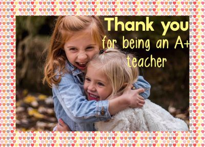 Teacher appreciation week with a personalised card