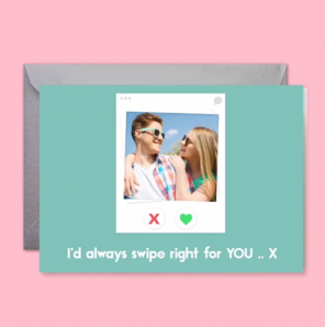 Valentine's Day card for Tinder boyfriend or girlfriend