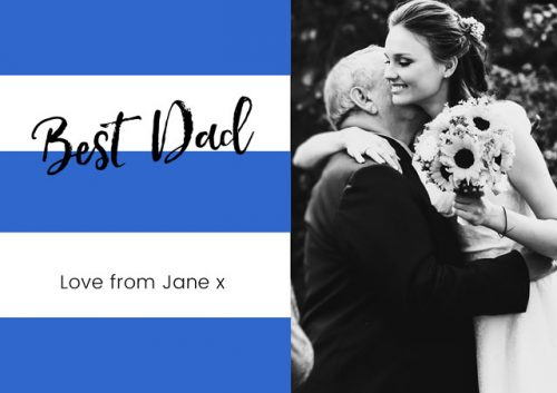 Best dad father's day card - wedding
