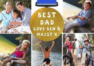 collage card best dad - fathers day