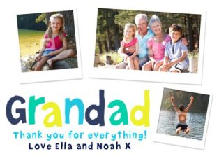 grandad personalised father's day card