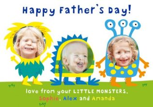 Personalised monsters card - father's day