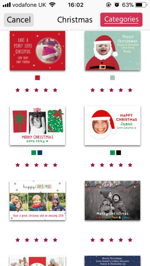 Postsnap app christmas cards