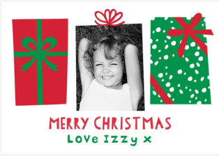 Merry Christmas photo card from Postsnap