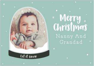 Snowglobe photo christmas card from postsnap