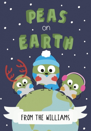 customcard peas on earth christmas card