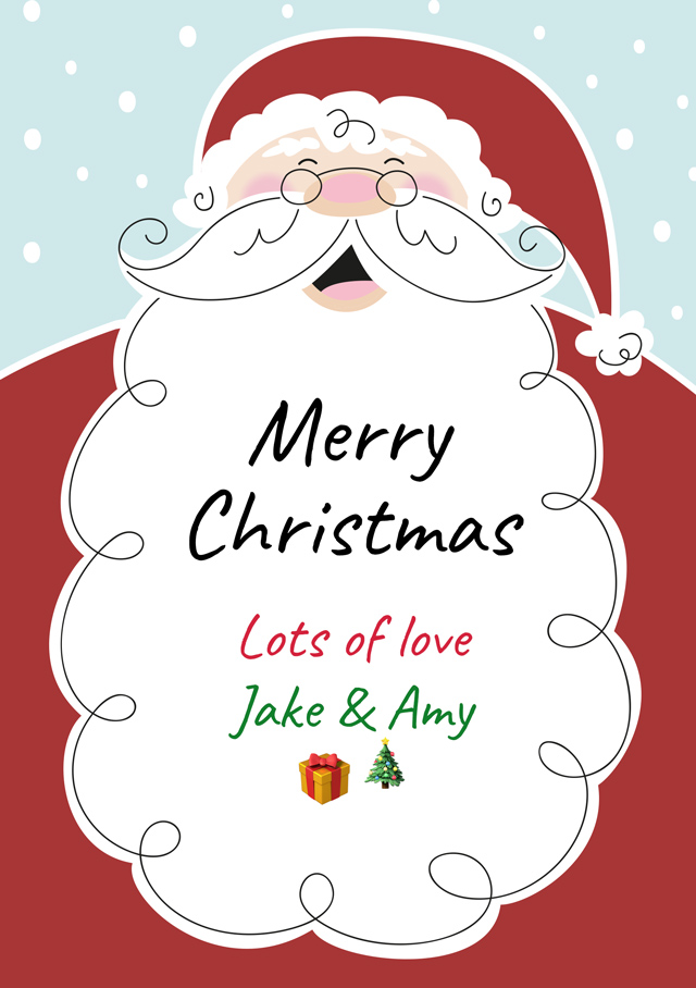 customcard santa christmas card